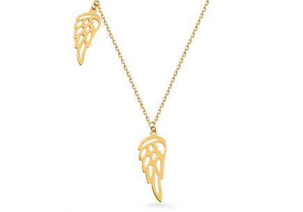 Gold Necklace with Angel Wings Celebrity