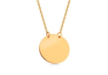 Gold necklace with round plate Celebrity