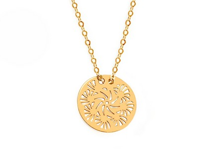 Gold Necklace with  V.I.P. Pendant