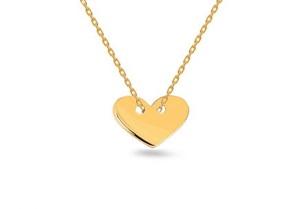 Gold Heart necklace Celebrity