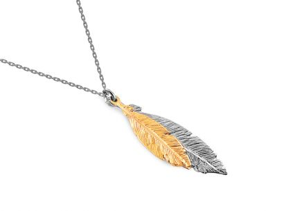 Sterling Silver necklace with feathers