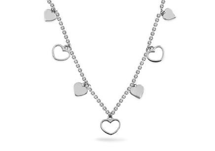 Sterling Silver Necklace with Hearts