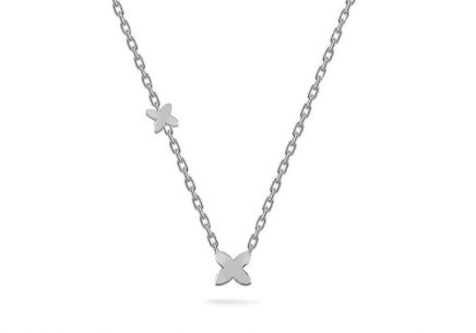 White Gold Floral Necklace