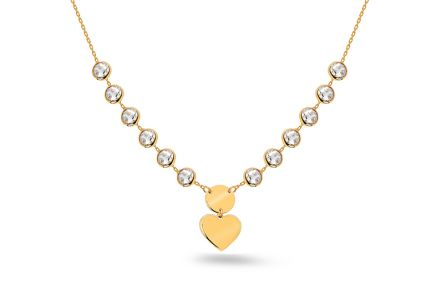 Gold necklace with heart