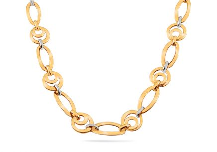Gold two-tone necklace