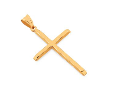 Gold cross pendant
