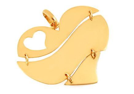Gold Heart Pendant
