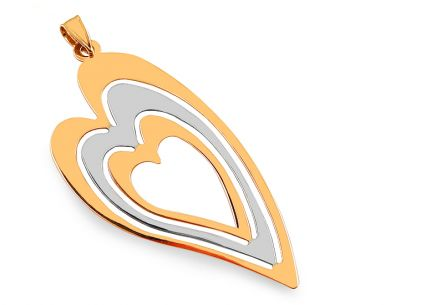 Women's Gold Heart Pendant