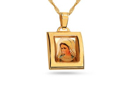 Gold Virgin Mary's Pendant