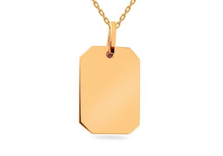 Gold Engraving Plate Pendant