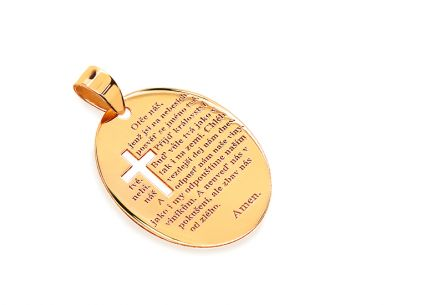 Pendant with Lord's prayer in Czech