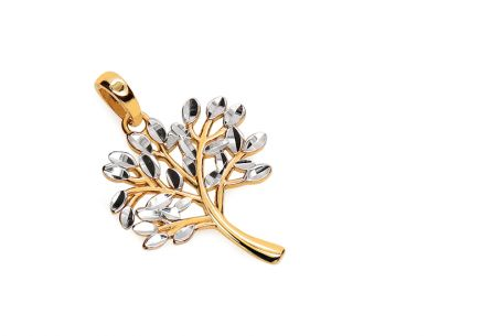Gold Pendant Tree of Happiness
