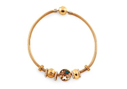 Palmyre - Exclusive Gold Bracelet with Charms