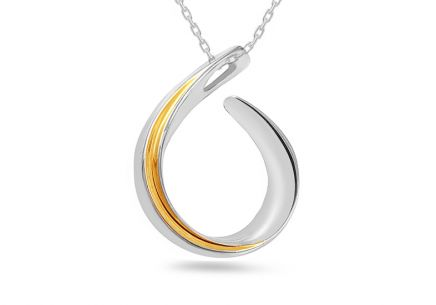 pendant  925Silver combined Rhodium and gold plated