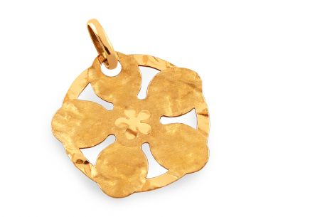 Women's Gold Flower Pendant