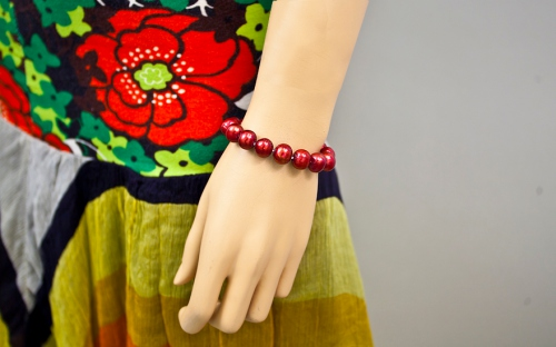 Red Pearls Bracelet