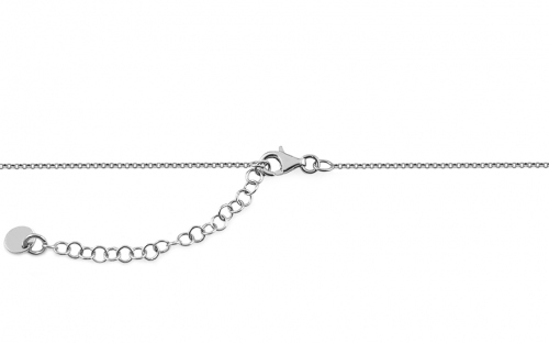 Rhodium plated 925Sterling Silver chain with  inspired by handwritten letter K - OZC322
