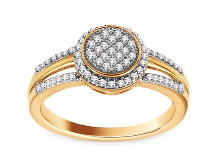 Gold Brilliant Cut Diamond Ring