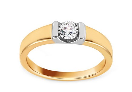 Gold Engagement Ring with Diamond 0.080 ct Marita