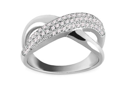 Rhodium plate 925 Silver ring decorated with cubic zirconia