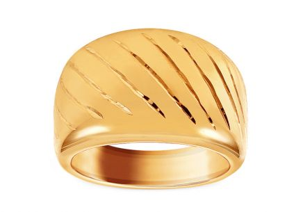 Women's Gold Engraved Ring