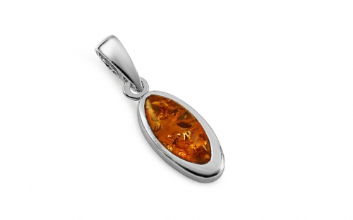 Silver Amber Pendant - IS98P