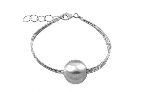Sterling Silver Bracelet with Ball  for women - IS307N
