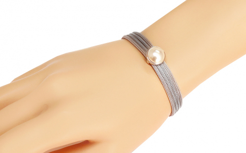 Rhodium plated Silver bracelet for Ladies - IS178N