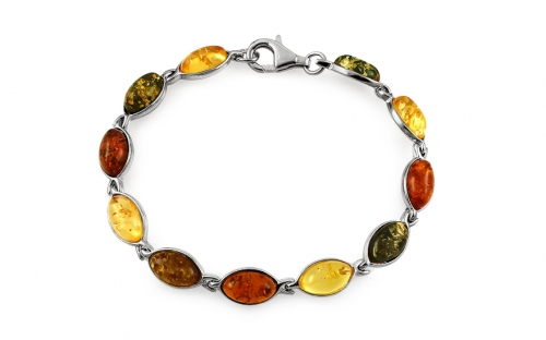 Silver Bracelet with Amber - IS2060FN