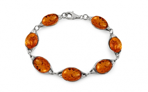 Silver Bracelet with Amber - IS2065NR
