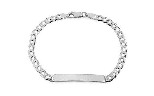 Silver bracelet with plate - IS314