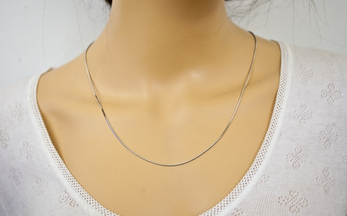 Rhodium plated sterling Silver chain - IS232