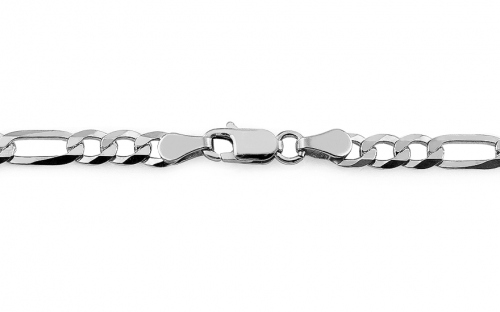 Sterling Silver chain Figaro 4 mm - IS1633