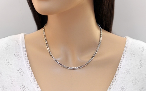 Silver Rombo chain 4 mm - IS1649