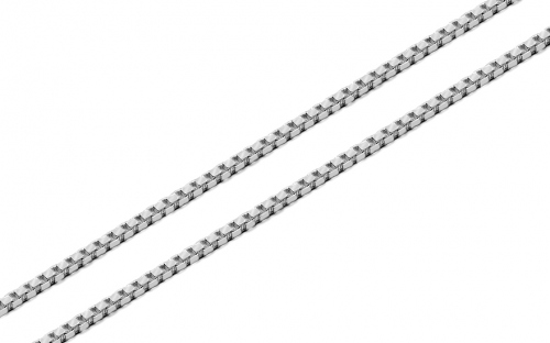 Silver cube chain 1 mm - IS970