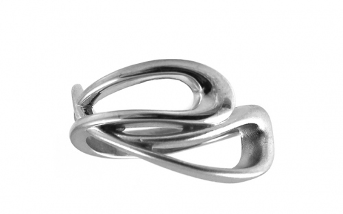 Rhodium plated Silver lady's ring - IS668