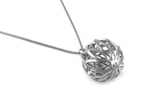 Sterling Silver Necklace with Ball pendant
