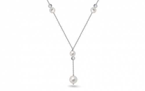 Sterling Silver necklace with white balls