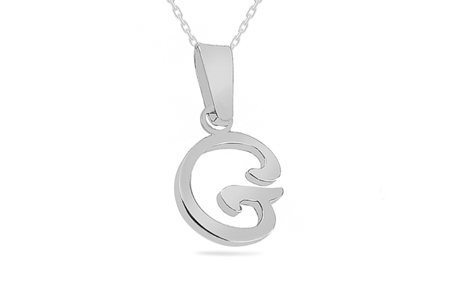 Rhodium plated 925Silver Pendant  G - IS780G