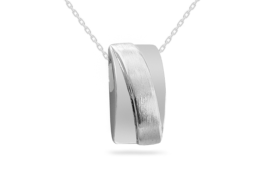 Rhodium plated 925Sterling Silver pendant
