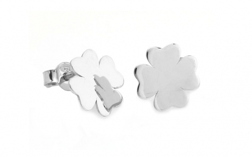 Sterling Silver Four Leaf Clover Earrings - IS384