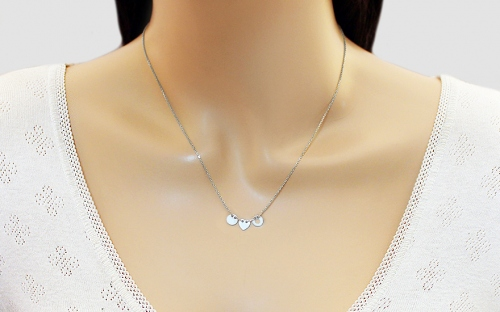Sterling Silver Necklace Ellipse - IS2327