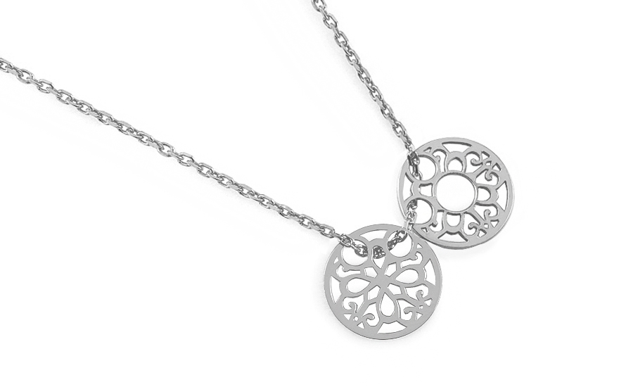 Sterling Silver Necklace Ellipse - IS2330