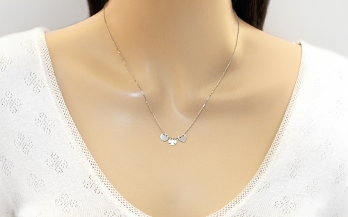 Sterling Silver Necklace Ellipse - IS2332