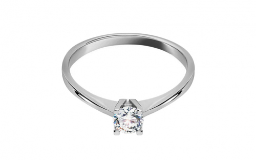 Stunning White Gold Engagement Ring with Zircon - IZ16246A
