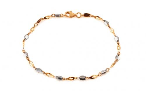Two Tone Gold Bracelet For Women Iz12624