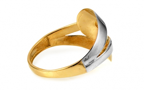 Two Tone Gold Ring - IZ10708