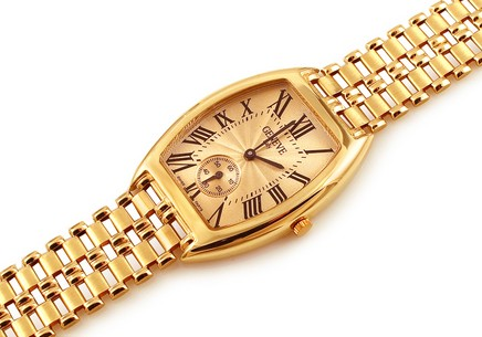 Gold mens watch Geneve