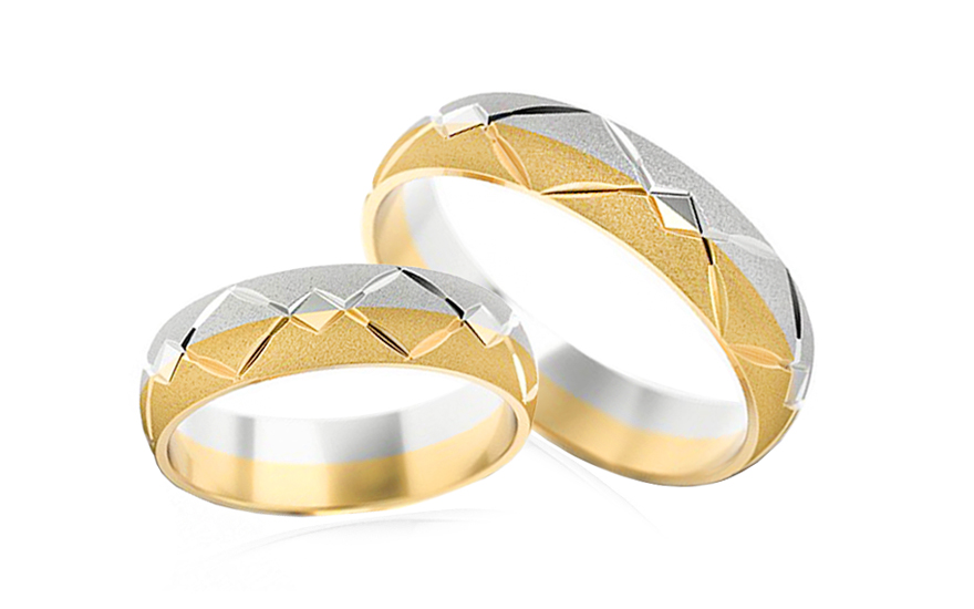Wedding bands engraved width 5mm - STOB030-5
