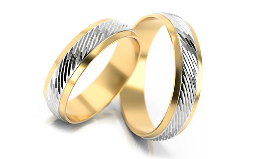 Wedding bands engraved width 5mm - STOB063